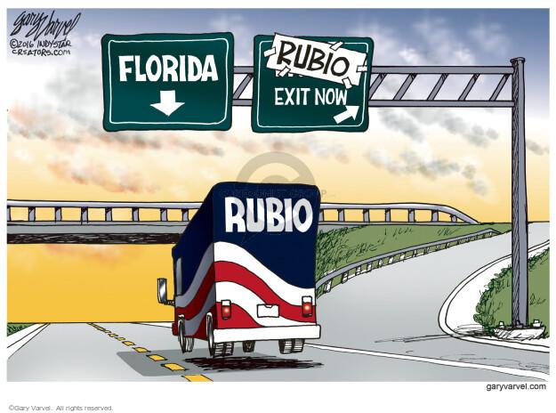 Gary Varvel  Gary Varvel's Editorial Cartoons 2016-03-10 bus