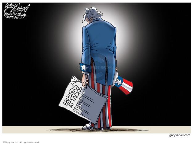 Cartoonist Gary Varvel  Gary Varvel's Editorial Cartoons 2016-03-23 terror