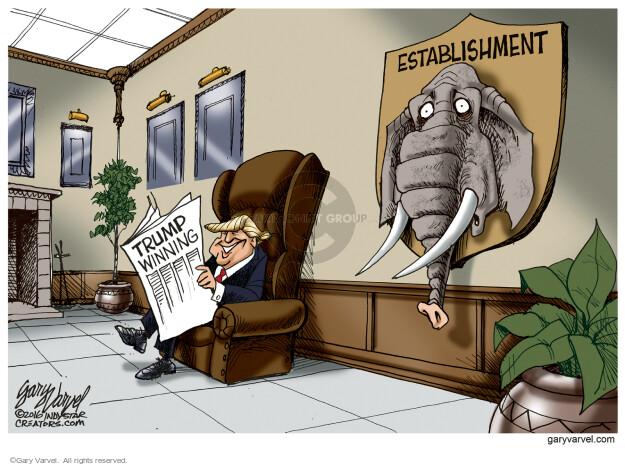 Cartoonist Gary Varvel  Gary Varvel's Editorial Cartoons 2016-03-28 establishment