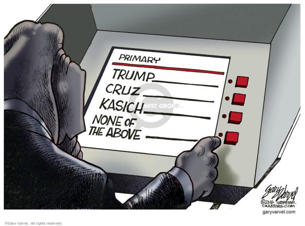 Gary Varvel  Gary Varvel's Editorial Cartoons 2016-04-05 undecided voter