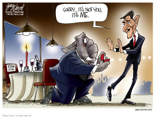 Cartoonist Gary Varvel  Gary Varvel's Editorial Cartoons 2016-04-14 establishment