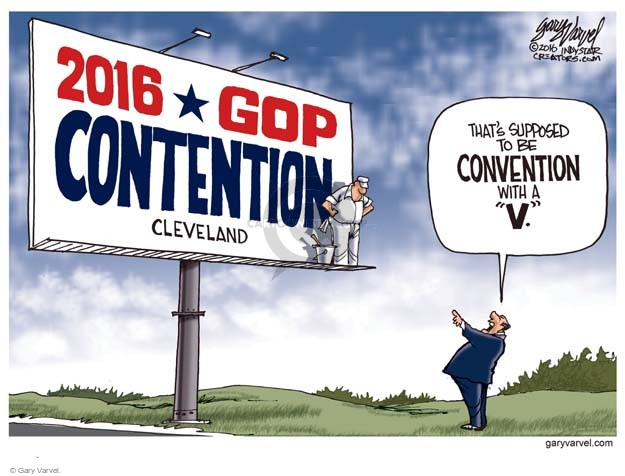 Cartoonist Gary Varvel  Gary Varvel's Editorial Cartoons 2016-04-21 political convention