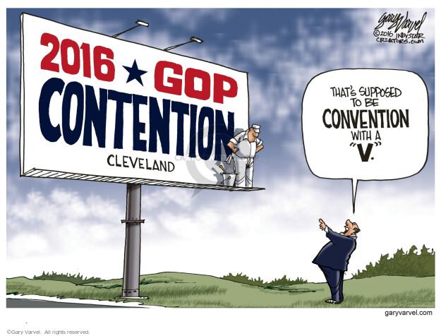 Gary Varvel  Gary Varvel's Editorial Cartoons 2016-04-21 GOP
