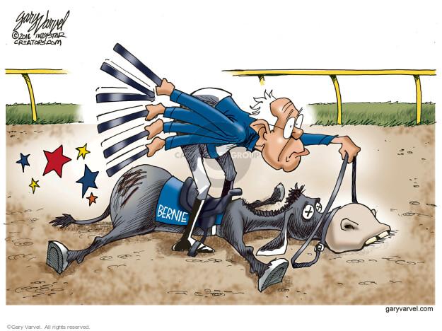 Gary Varvel  Gary Varvel's Editorial Cartoons 2016-04-22 Bernie Sanders