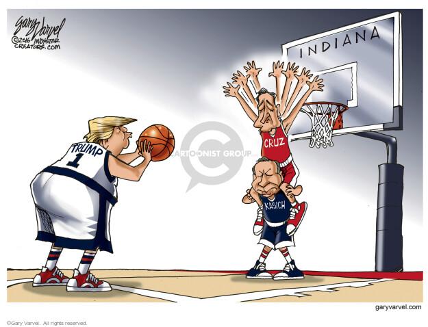 Indiana. Cruz. Kasich. Trump.