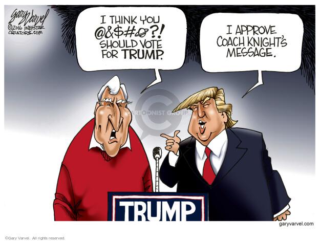 Cartoonist Gary Varvel  Gary Varvel's Editorial Cartoons 2016-04-28 primary election