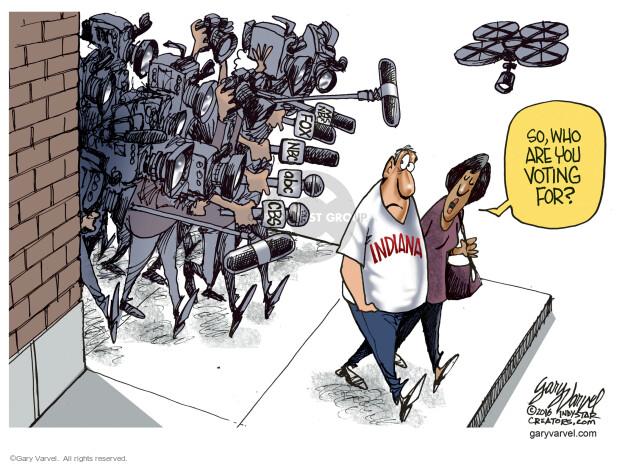 Cartoonist Gary Varvel  Gary Varvel's Editorial Cartoons 2016-05-01 Indiana