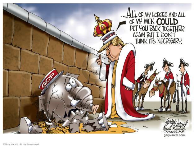 Cartoonist Gary Varvel  Gary Varvel's Editorial Cartoons 2016-05-12 republican party