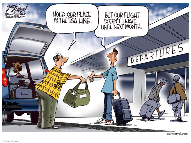Cartoonist Gary Varvel  Gary Varvel's Editorial Cartoons 2016-05-18 airport screening