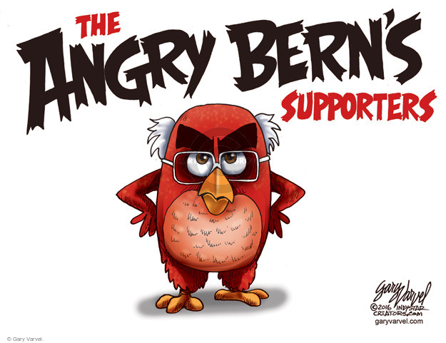 Gary Varvel  Gary Varvel's Editorial Cartoons 2016-05-19 Bernie Sanders