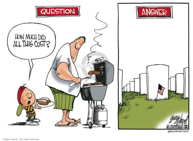 Cartoonist Gary Varvel  Gary Varvel's Editorial Cartoons 2016-05-30 soldier