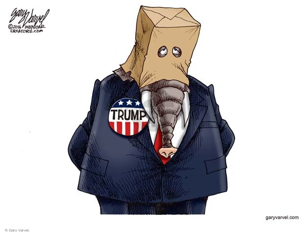 Cartoonist Gary Varvel  Gary Varvel's Editorial Cartoons 2016-06-08 republican party