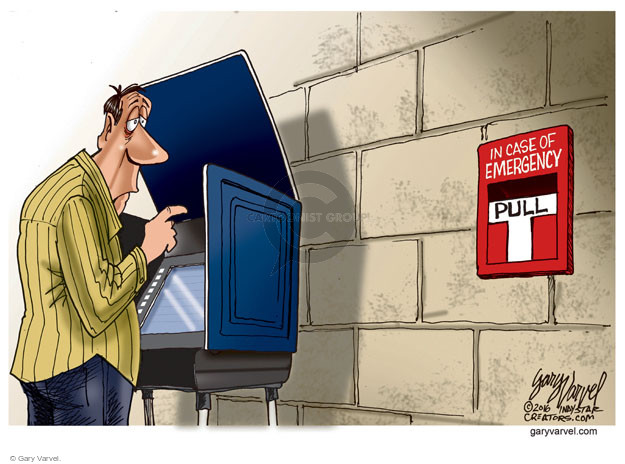 Cartoonist Gary Varvel  Gary Varvel's Editorial Cartoons 2016-06-12 emergency