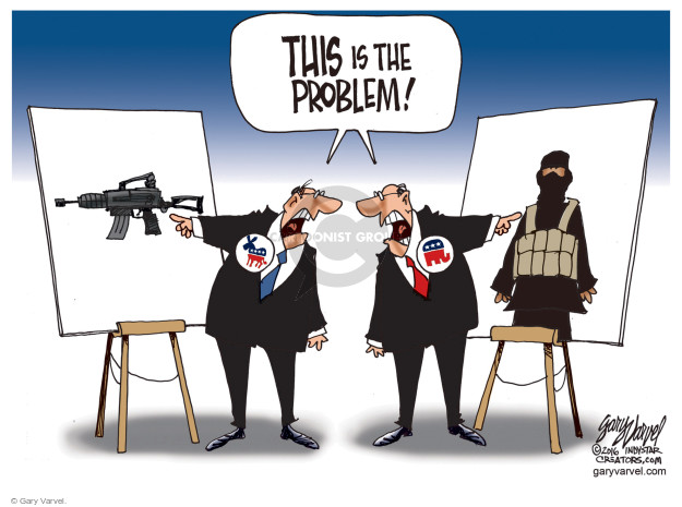 Cartoonist Gary Varvel  Gary Varvel's Editorial Cartoons 2016-06-22 terrorism