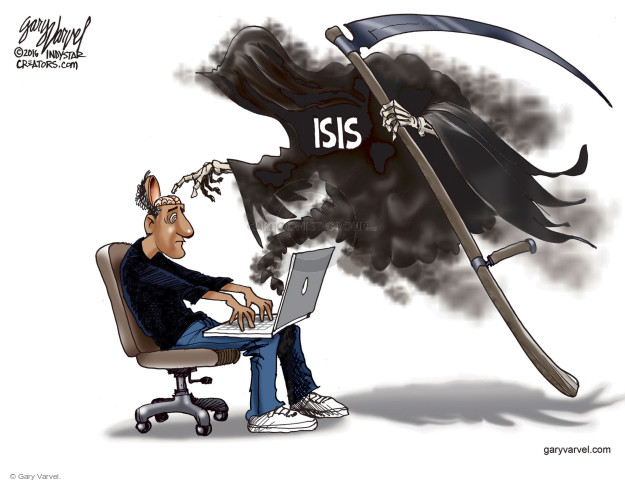 Cartoonist Gary Varvel  Gary Varvel's Editorial Cartoons 2016-06-23 terrorism