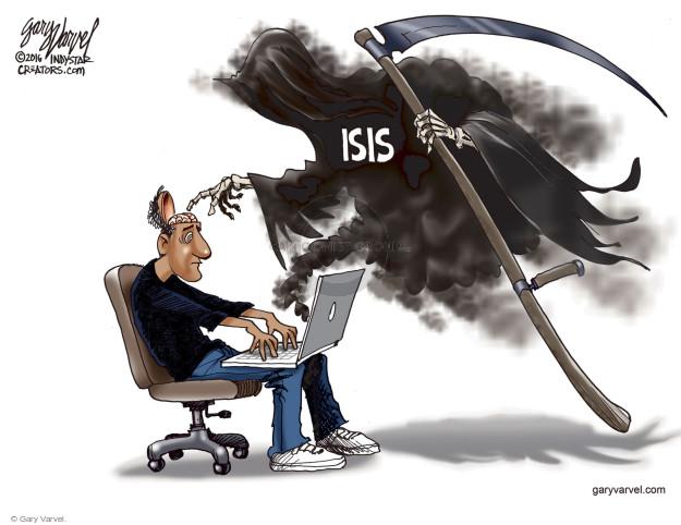 Cartoonist Gary Varvel  Gary Varvel's Editorial Cartoons 2016-06-23 terror