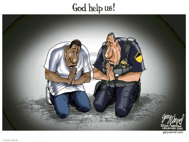 Cartoonist Gary Varvel  Gary Varvel's Editorial Cartoons 2016-07-09 shooting