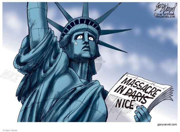 Cartoonist Gary Varvel  Gary Varvel's Editorial Cartoons 2016-07-16 terrorism