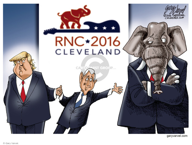 Cartoonist Gary Varvel  Gary Varvel's Editorial Cartoons 2016-07-18 political convention