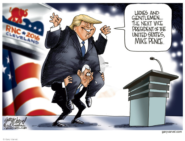 Cartoonist Gary Varvel  Gary Varvel's Editorial Cartoons 2016-07-20 political convention