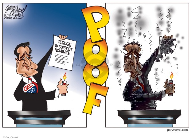 Cartoonist Gary Varvel  Gary Varvel's Editorial Cartoons 2016-07-22 political convention