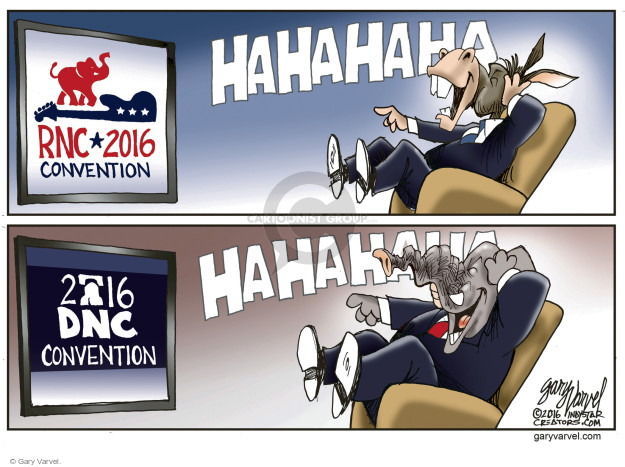 Gary Varvel  Gary Varvel's Editorial Cartoons 2016-07-31 2016 political convention