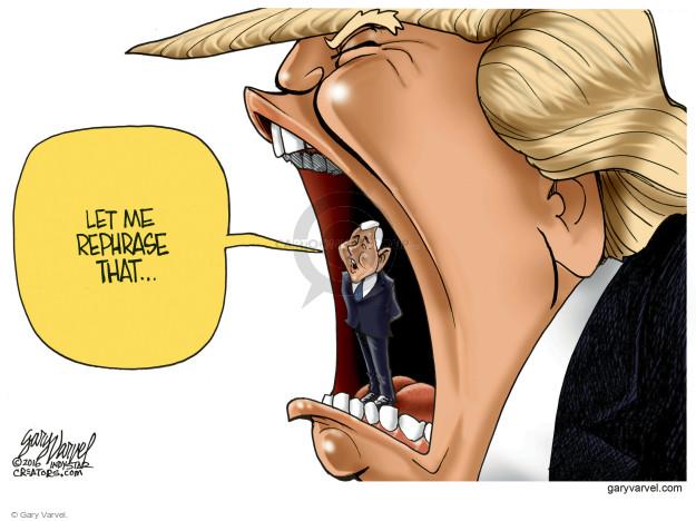 Gary Varvel  Gary Varvel's Editorial Cartoons 2016-08-03 spokesperson