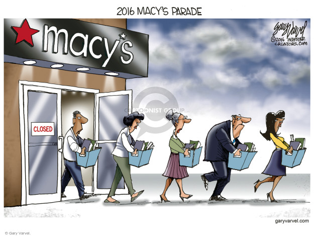 Cartoonist Gary Varvel  Gary Varvel's Editorial Cartoons 2016-08-15 unemployment