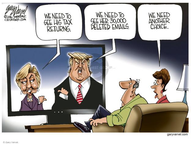 Gary Varvel  Gary Varvel's Editorial Cartoons 2016-08-17 voter frustration