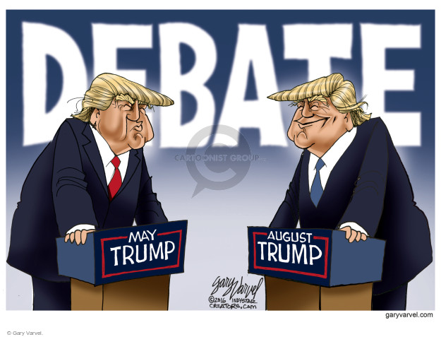 Gary Varvel  Gary Varvel's Editorial Cartoons 2016-08-26 election debate