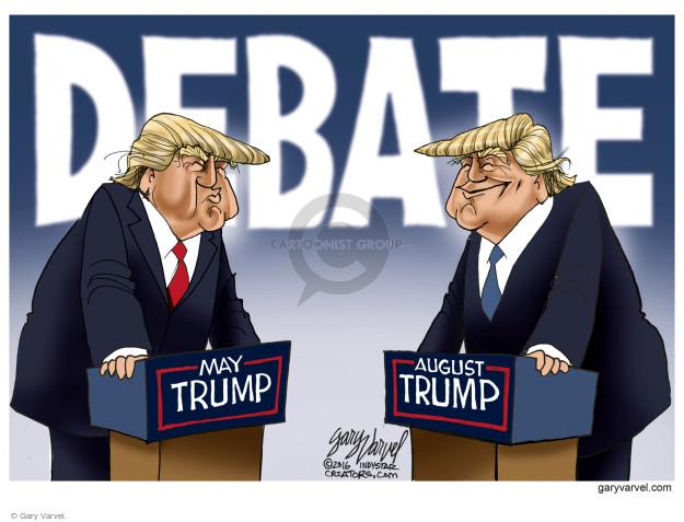 Gary Varvel  Gary Varvel's Editorial Cartoons 2016-08-26 debate