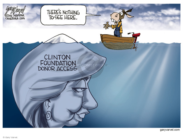 Theres nothing to see here. Clinton Foundation donor access.