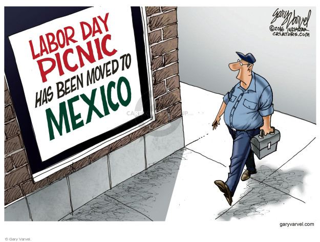 Cartoonist Gary Varvel  Gary Varvel's Editorial Cartoons 2016-09-05 unemployment
