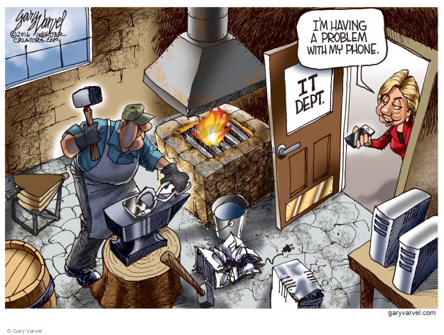 Cartoonist Gary Varvel  Gary Varvel's Editorial Cartoons 2016-09-09 technology