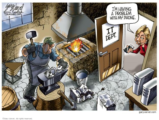 Cartoonist Gary Varvel  Gary Varvel's Editorial Cartoons 2016-09-09 information