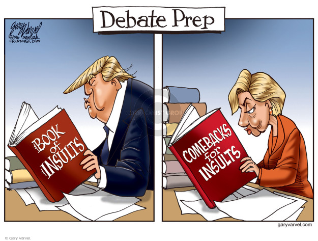 Gary Varvel  Gary Varvel's Editorial Cartoons 2016-09-26 election debate