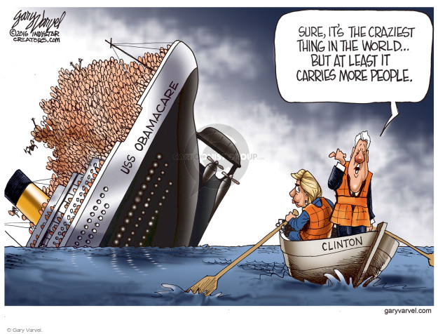 Sure its the craziest thing in the world … but at least it carries more people. USS Obamacare. Clinton.