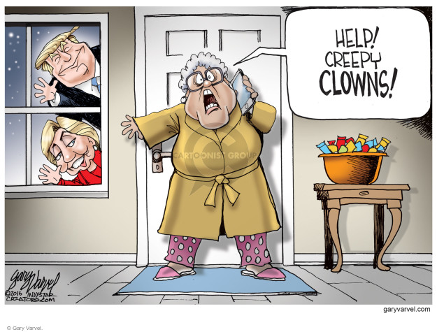 Cartoonist Gary Varvel  Gary Varvel's Editorial Cartoons 2016-10-10 democratic