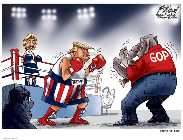 Gary Varvel  Gary Varvel's Editorial Cartoons 2016-10-13 boxing