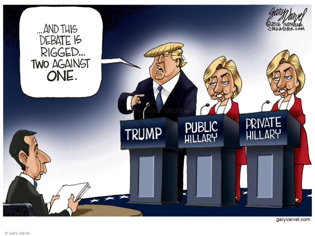 Gary Varvel  Gary Varvel's Editorial Cartoons 2016-10-19 2016 Republican Debate