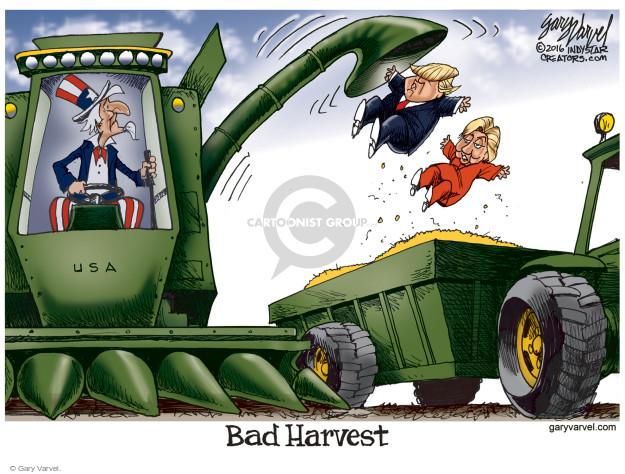 Cartoonist Gary Varvel  Gary Varvel's Editorial Cartoons 2016-10-20 GOP