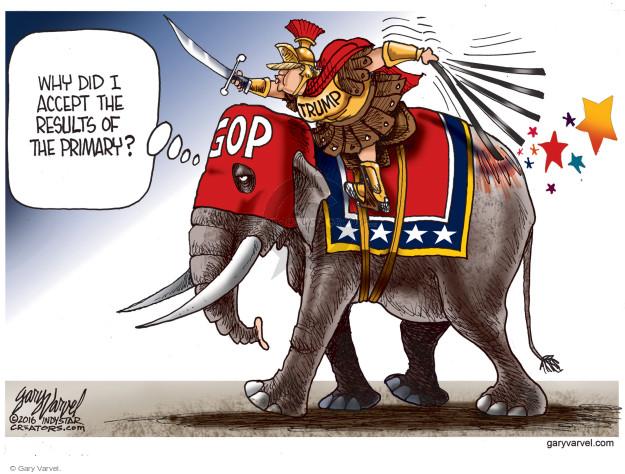 Cartoonist Gary Varvel  Gary Varvel's Editorial Cartoons 2016-10-21 republican party