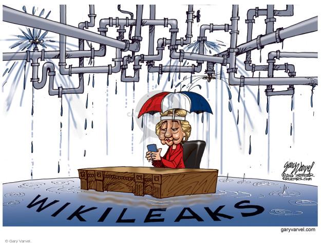 Gary Varvel  Gary Varvel's Editorial Cartoons 2016-10-30 Clinton