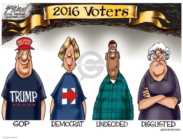 Cartoonist Gary Varvel  Gary Varvel's Editorial Cartoons 2016-10-31 democratic