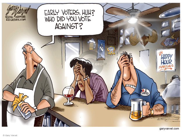Gary Varvel  Gary Varvel's Editorial Cartoons 2016-11-02 early voter