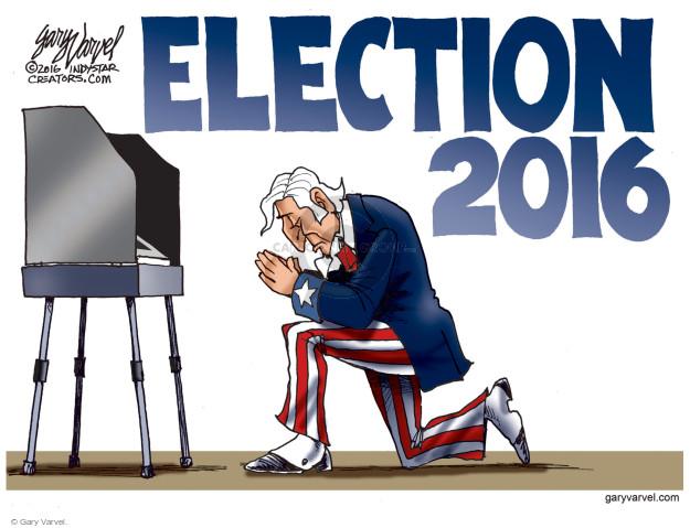 Cartoonist Gary Varvel  Gary Varvel's Editorial Cartoons 2016-11-07 faith