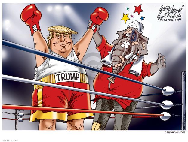 Cartoonist Gary Varvel  Gary Varvel's Editorial Cartoons 2016-11-10 GOP