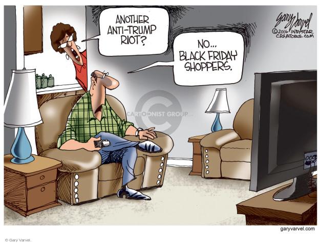 Cartoonist Gary Varvel  Gary Varvel's Editorial Cartoons 2016-11-25 Black Friday