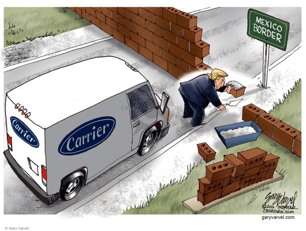 Gary Varvel  Gary Varvel's Editorial Cartoons 2016-11-28 immigration