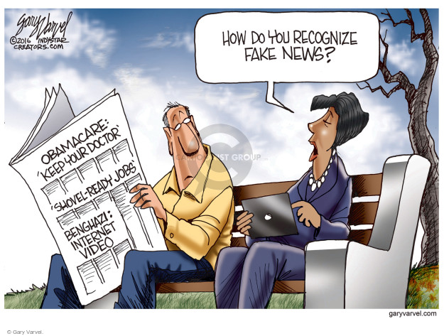 Cartoonist Gary Varvel  Gary Varvel's Editorial Cartoons 2016-12-11 fake